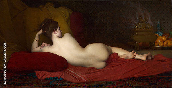 Odalisque Painting By Jules Joseph Lefebvre - Reproduction Gallery