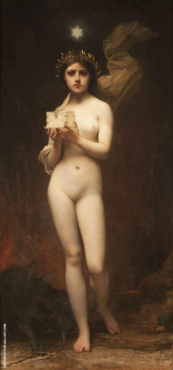 Pandora 1872 Painting By Jules Joseph Lefebvre - Reproduction Gallery