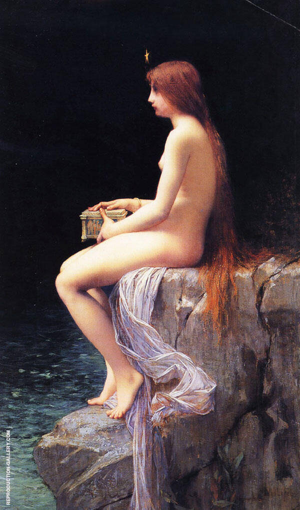 Pandora 1882 Painting By Jules Joseph Lefebvre - Reproduction Gallery