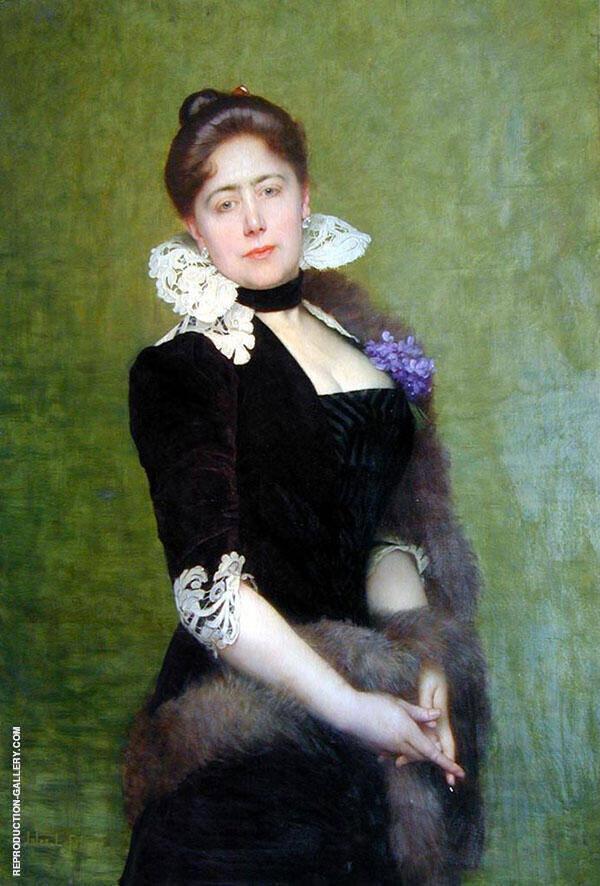 Portrait of a Lady Painting By Jules Joseph Lefebvre
