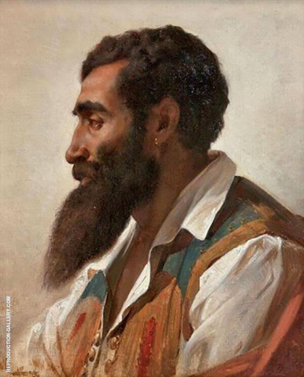 Portrait of a Man in Profile By Jules Joseph Lefebvre