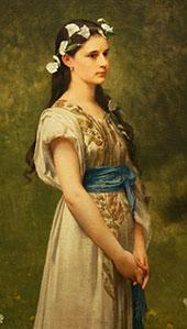 Portrait of Julia Foster Ward By Jules Joseph Lefebvre
