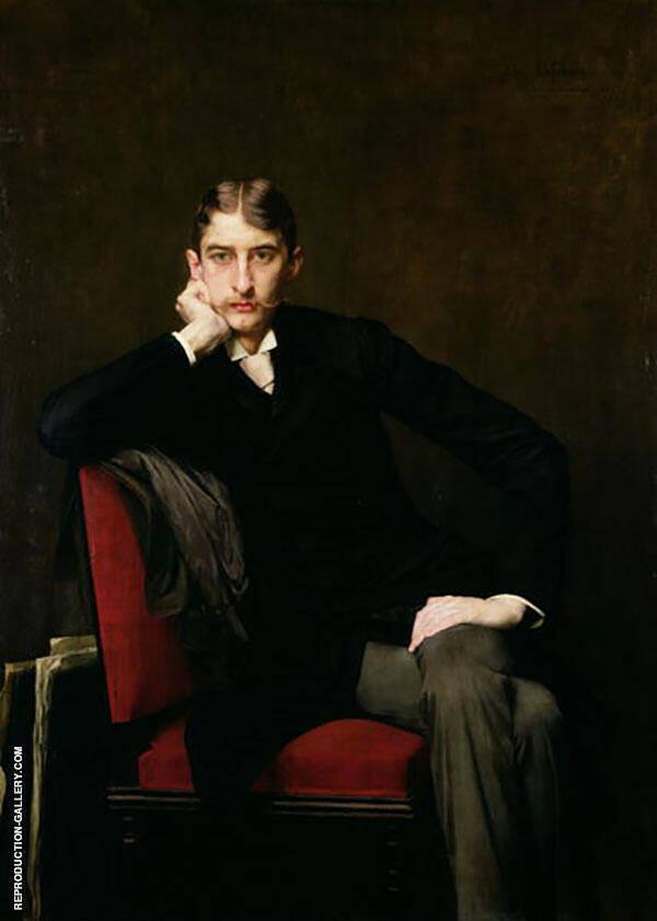 Portrait of M Fitzgerald 1889 Painting By Jules Joseph Lefebvre