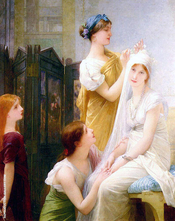 The Fiancee Painting By Jules Joseph Lefebvre - Reproduction Gallery
