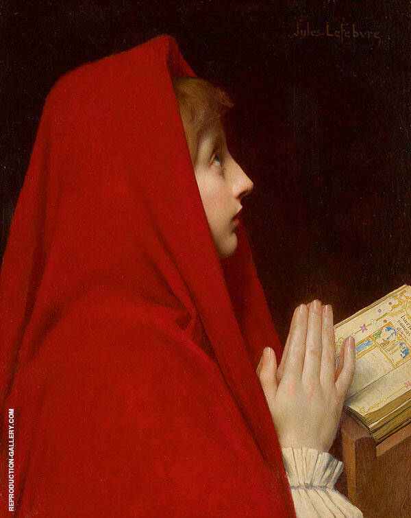 The Red Cloak Painting By Jules Joseph Lefebvre - Reproduction Gallery
