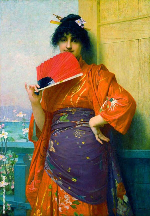 Une Japonaise Painting By Jules Joseph Lefebvre - Reproduction Gallery