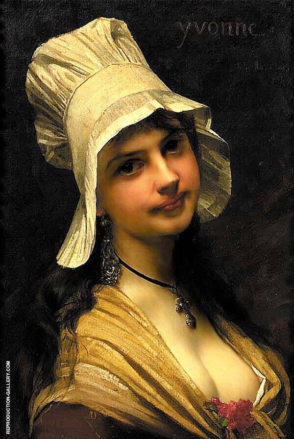 Yvonne The Artist Daughter 1877 By Jules Joseph Lefebvre