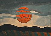 Red Sun 1935 By Arthur Dove