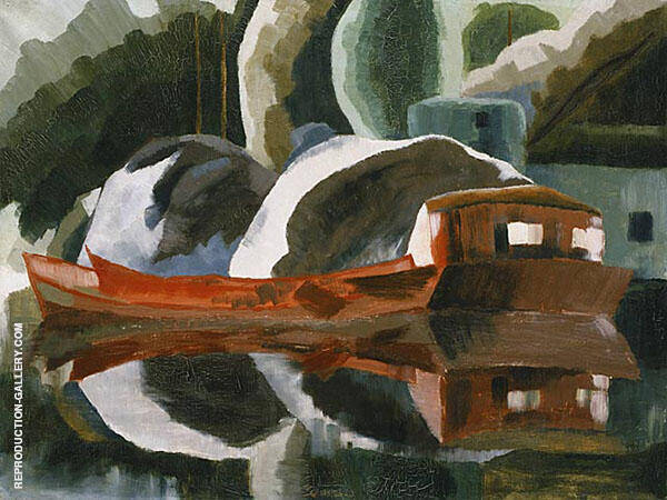 Red Barge 1931 By Arthur Dove
