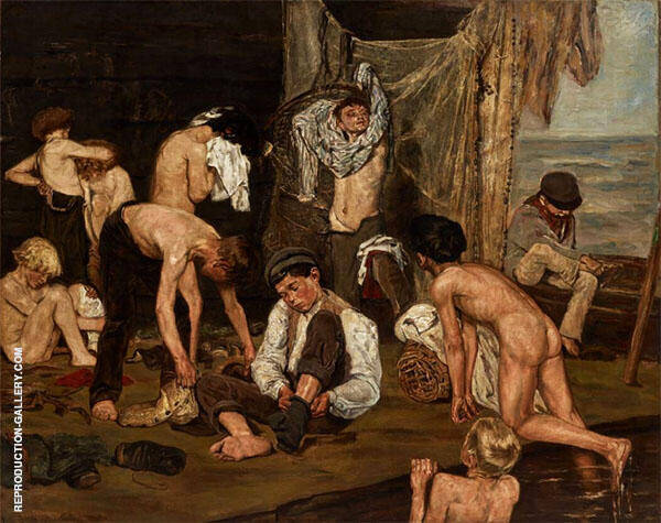 At The Swimming Hole 1875 By Max Liebermann