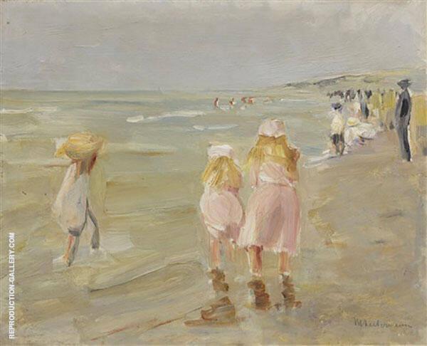 Beach in Sheveningen c1898 By Max Liebermann