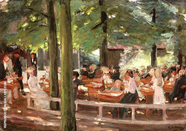 Beer Garden in Laren By Max Liebermann