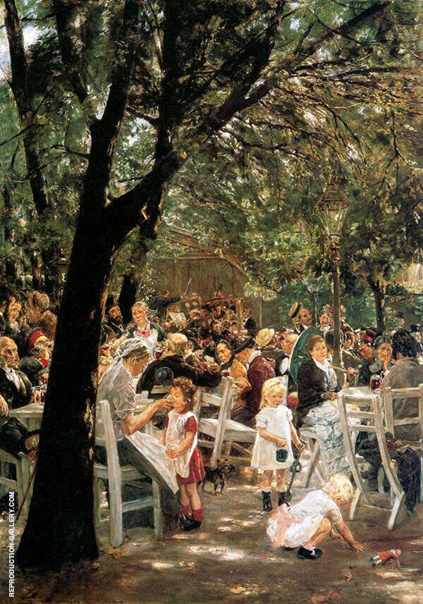 Beer Garden in Munich 1884 By Max Liebermann