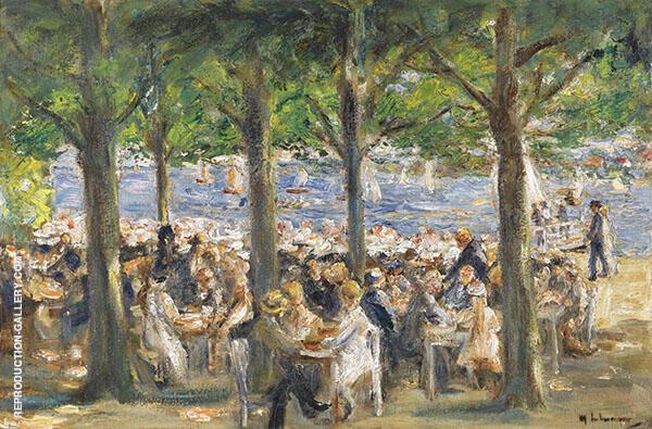 Beer Garden near The Havel Under Trees By Max Liebermann