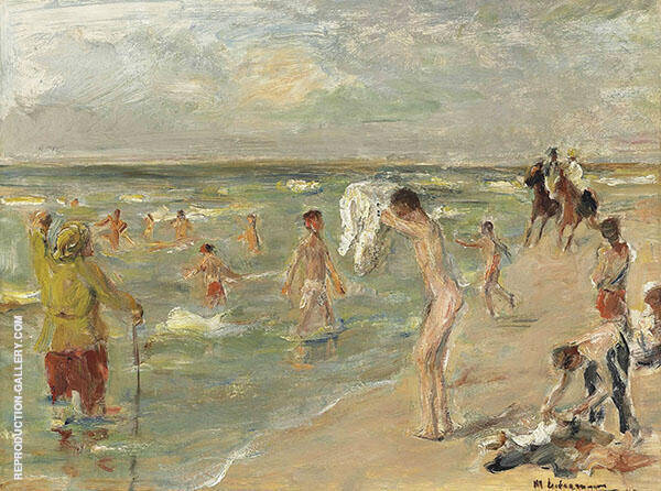 Boy Bathing in Zandvoort By Max Liebermann