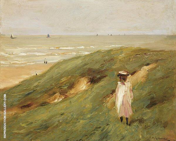 Dune near Nordwijk with a Child By Max Liebermann