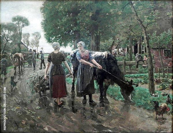 Dutch Country Lane By Max Liebermann