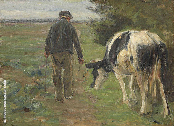 Farmer with Cow By Max Liebermann