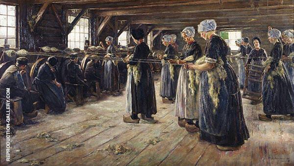 Flax Scourers in Laren 1887 By Max Liebermann