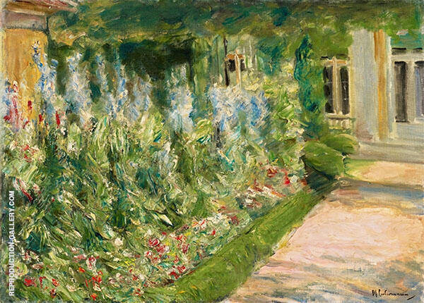 Flowers at The Gardener's House to The East By Max Liebermann