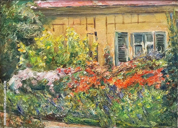 Flowers at The Gardner's House North By Max Liebermann
