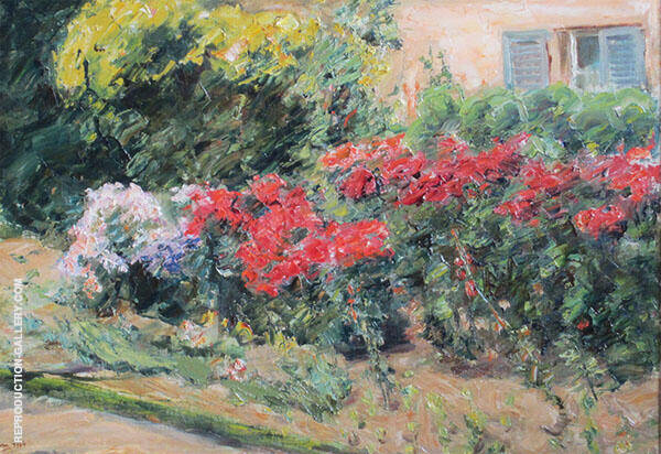 Flowers at The Gardner's House Wannsee By Max Liebermann