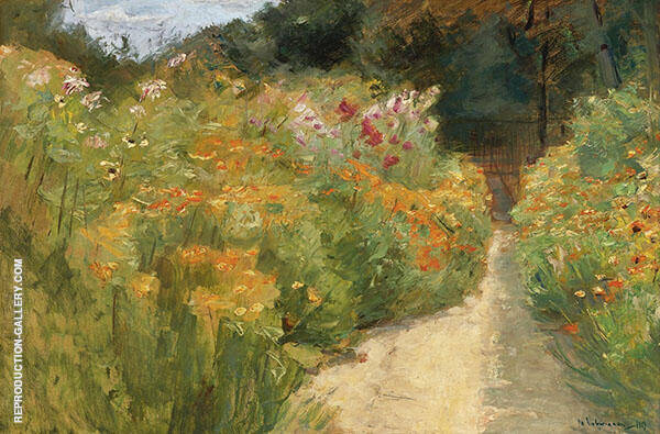 Flower Shrubs in Wannsee Garden By Max Liebermann