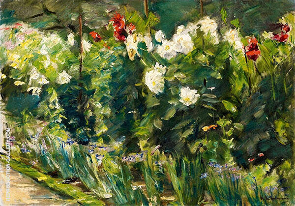 Flowers in The Garden to The Southeast By Max Liebermann