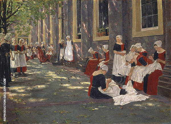 Free Period in The Amsterdam Orphanage 1881 By Max Liebermann