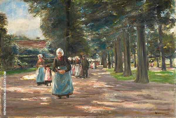 Going to Church in Laren By Max Liebermann