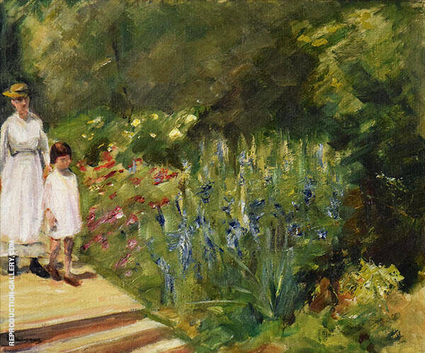 Granddaughter and Nanny in The Garden By Max Liebermann