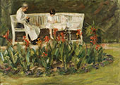 Granddaughter and Nanny in The Wannsee Garden 1923 By Max Liebermann