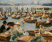 On The Shores of The Alster River in Hamburg By Max Liebermann
