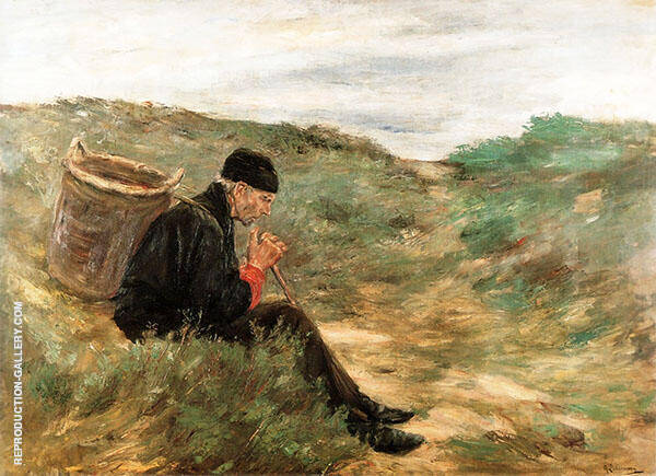 Rest in The Dunes By Max Liebermann