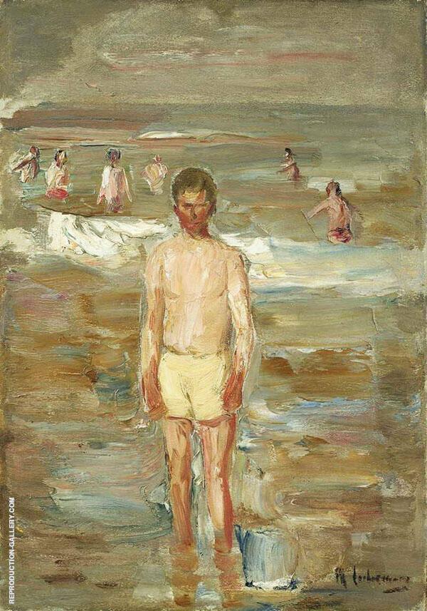 Standing Boy on The Beach By Max Liebermann