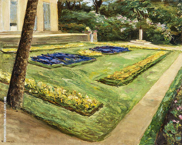 Terrace in The Garden near The Wannsee Towards Northwest By Max Liebermann