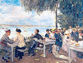 The Beer Garden Restaurant By Max Liebermann