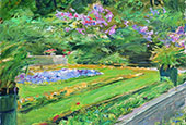 The Flower Terrace in The Garden in Wannsee to The North West 1926 By Max Liebermann