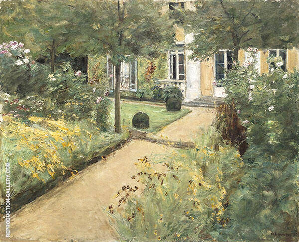 The Garden in Wannsee Looking Northeast 1917 By Max Liebermann