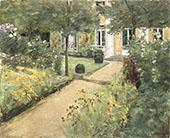 The Garden in Wannsee Looking Northeast 1917 By Max Liebermann