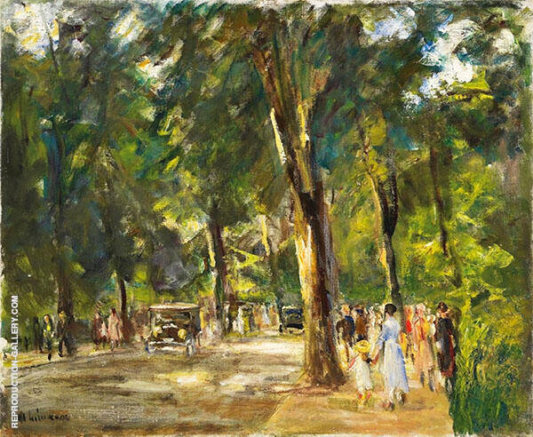 The Grosse Seestrasse with Strollers By Max Liebermann