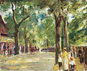 The Large Lake Street in Wannsee with Strolling People By Max Liebermann