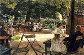 The Restaurant Garden By Max Liebermann