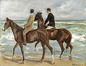 Two Riders on The Beach By Max Liebermann