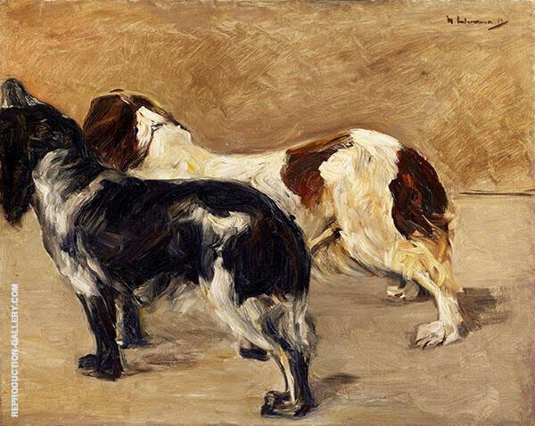 Two Spaniels By Max Liebermann