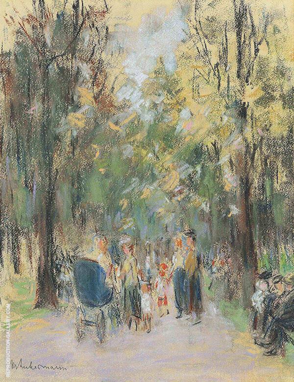 Walk in The Berlin Zoo By Max Liebermann