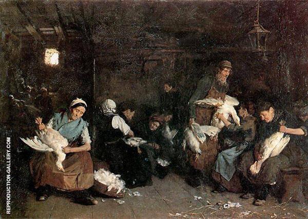 Women Plucking Geese 1871 By Max Liebermann