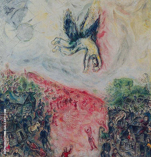 The Fall of Icarus 1975 Painting By Marc Chagall - Reproduction Gallery