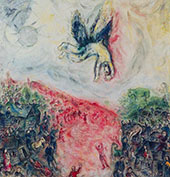 The Fall of Icarus 1975 By Marc Chagall