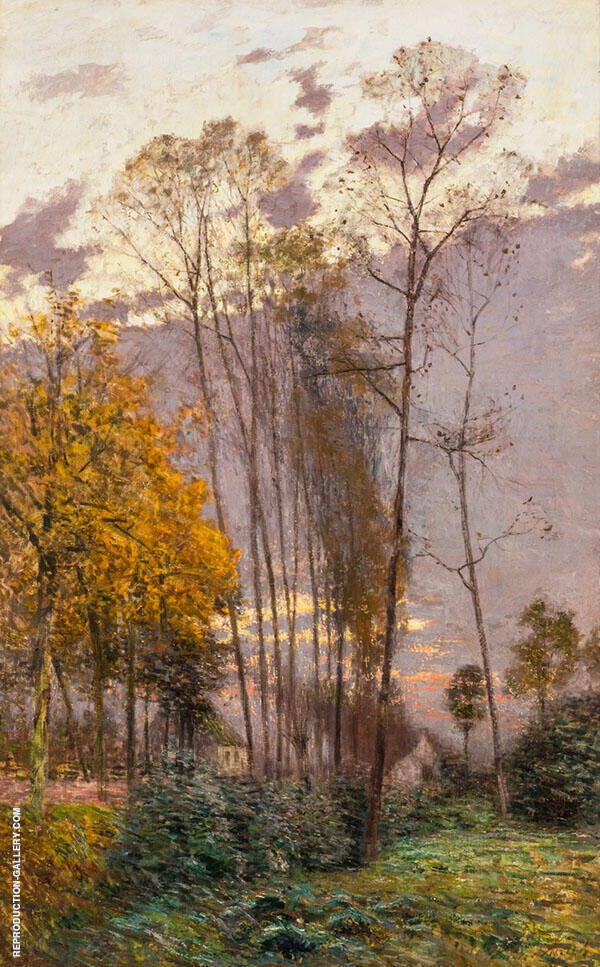 A Rural Landscape on an Autumn Morning By Emile Claus